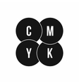 CMYK circles icon simple style vector image vector image