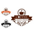 Coffee Always Fresh label vector image vector image