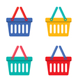 Colorful Shopping Basket vector image vector image