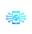 data transfer in smartphone mobile technology vector image