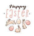 easter eggs with bunnies vector image vector image