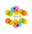 educational center or business hub creative idea vector image vector image