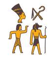 egypt travel history sybols hand drawn design vector image vector image