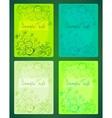 Floral doodles cards set vector image vector image