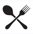 Fork And Spoon Isolated vector image vector image