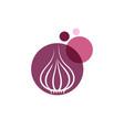 garlic icon design vector image