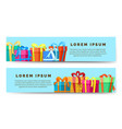 Gift boxes horizontal banners