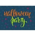 halloween lettering typography vector image vector image
