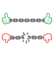 hand chain icon vector image vector image
