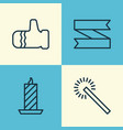 happy icons set collection of mitten sparkles vector image