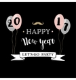 Happy New Year 2017 greeting card invitation vector image vector image