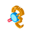 hearing test isometric icon vector image vector image