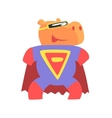 Hippo Smiling Animal Dressed As Superhero With A vector image vector image