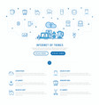 internet things concept with thin line icons vector image