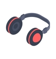 Isometric headphones icon isolated on a vector image