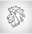lion head icon logo vector image vector image