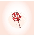 Lollipop Hand drawn sketch on pink background vector image vector image