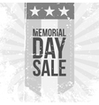 Memorial Day Sale Label vector image vector image
