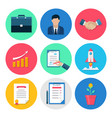 modern business flat icons set vector image vector image