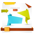 Origami style speech banner vector image
