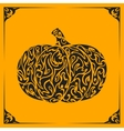 Ornamental decorative pumpkin silhouette vector image vector image
