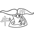 ox chinese horoscope sign vector image vector image