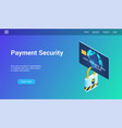 payment security 3d template vector image vector image