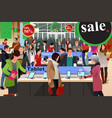 people shopping on black friday vector image vector image