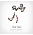people sports basketball vector image vector image