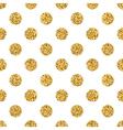 polka dot big gold white 1 vector image