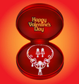 postcard on Valentines day with a diamond necklac vector image vector image