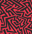 red tribal seamless pattern vector image vector image