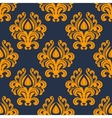Retro orange floral seamless pattern vector image vector image