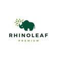 rhino leaf logo icon vector image vector image