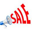 Sale megaphone vector image vector image