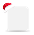 Santa Hat With Blank Gift Tag vector image