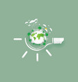save earth concept paper cut style vector image