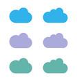 set cloud logo template design eps 10 vector image