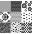 Set monochrome patterns vector image vector image