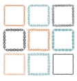 Set of 9 decorative square border frames vector image vector image