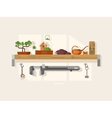 Shelf interior with object vector image vector image