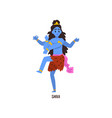 Shiva indian god cartoon character