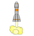 space rocket takes off from planet earth isolated vector image vector image