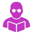 Student Reading Book Icon vector image