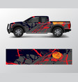 truck and car decal wrap graphic abstract racing vector image