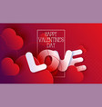 valentines day hearts love red abstract background vector image vector image
