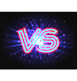 Versus neon logo on background with abstract light