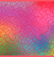 wave background of doodle hand drawn lines vector image vector image
