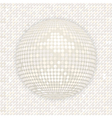 White disco ball on white mosaic background vector image vector image