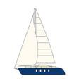 yacht clip art sailboat vector image